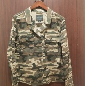 NWT SANCTUARY Camouflage soft jean jacket